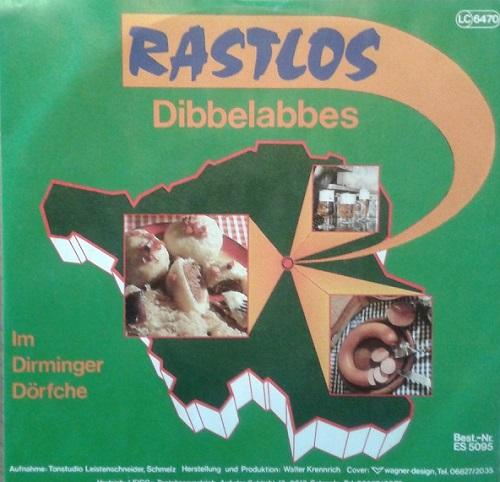 """RASTLOS presste """"Derminga"""" Hymne auf Vinyl"""